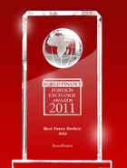 World Finance Awards 2011 – Cel mai Bun Broker din Asia